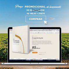 """O livro """"O Segredo do Grão"""" está com preço PROMOCIONAL de lançamento:  De R$ 220,00 por R$ 189,00 + frete.    Compre o seu: www.osegredodograo.com.br  #soja #grão #safra #agricultura #trigo #milho #livro #book #agronomia #conhecimento #investimento #agricultura #safra"""