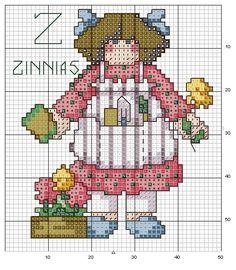 Schema punto croce Abc Girls 26