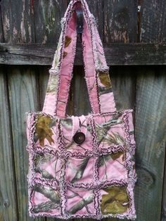 Quilted Rag Bag pink realtree rag purse www.facebook.com/handmade.by.jenni