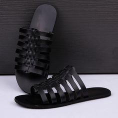 Free shipping new 2014 summer sandal men slippers rome style personality flat sandals PU men's shoes $65.00