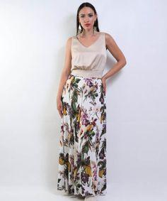 Φούστα Φλοράλ Μουσελίνα   Vaya Fashion Boutique