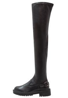 ¡Consigue este tipo de botas de caña alta de Raid ahora! Haz clic para ver los detalles. Envíos gratis a toda España. RAID DEBRA Botas mosqueteras black: RAID DEBRA Botas mosqueteras black Zapatos   | Material exterior: piel de imitación de alta calidad, Material interior: tela, Suela: fibra sintética, Plantilla: tela | Zapatos ¡Haz tu pedido   y disfruta de gastos de enví-o gratuitos! (botas de caña alta, caña, cañas, mosquetera, mosqueteras, alta, xxl, altas, highland, rodilla, h...