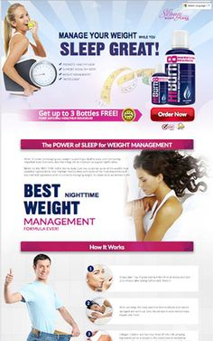Manage weight loss for 8 hours while you sleep!  One table spoon of the liquid formula before bed!