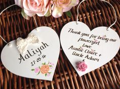 Hand-painted personalised thank you gifts from Lilly Dilly's you girl of bride Personalized Thank You Gifts, Luxury Wedding Gifts, Pageboy, Wedding Decorations, Wedding Ideas, Place Card Holders, Hand Painted, Bridesmaid, Weddings