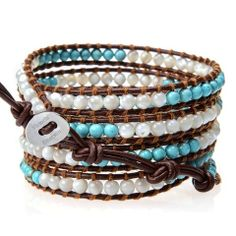 In-Stock and Ships in 24-hours. Victoria Emerson 5-Wrap bracelet with a ... click for more information