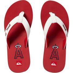 Los Angeles Angels of Anaheim Red Quiksilver Flip Flop Sandals $29.99 http://www.fansedge.com/Los-Angeles-Angels-of-Anaheim-Red-Quiksilver-Flip-Flop-Sandals-_-343719996_PD.html?social=pinterest_pfid28-58026