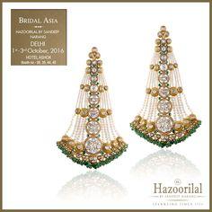 DELHI 1st - 3rd October Hazoorilal By Sandeep Narang brings in the wedding season with its ornate bridal jewellery @bridalasia at Ashoka hotel chanakyapuri NewDelhi . #bridalasia2016 #hazoorilalbysandeepnarang #hazoorilal #hazoorilalevents #hazoorilaljewellersgk #itcmaurya #dlfemporio #weddingdiaries #trousseau #wedding #jewellery #polki #diamonds #bride #JewelleryTrendSetters