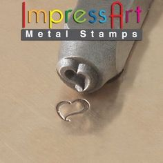 ImpressArt, Metal Jewellery Design Stamp, Swirly Heart, 6mm. Brand New$18.83 EBAY