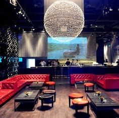 Comprising of a club, lounge, terrace and restaurant, this semi-private spot is one of Shanghai's longstanding nightlife institutions. Hookah Lounge, Bar Lounge, Hotel Lounge, Restaurant Lighting, Restaurant Bar, Club Ambiance, Karaoke, Shanghai Night, Nightclub Design