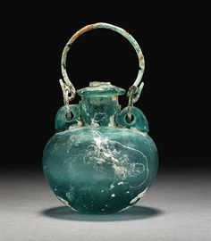 A ROMAN GLASS ARYBALLOS - CIRCA 1ST-2ND CENTURY A.D.