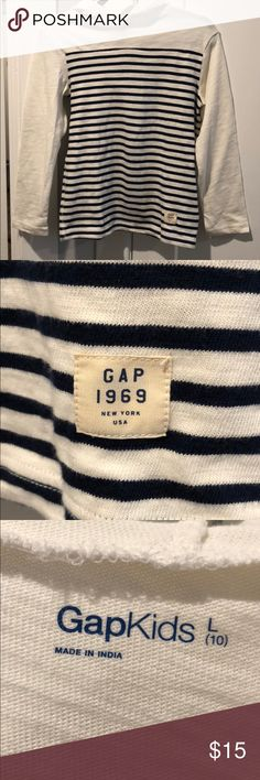 Boys GAP Striped Pull-Over Sweater Great condition, gently used. Size L (10). 100% cotton. GAP Shirts & Tops Sweaters