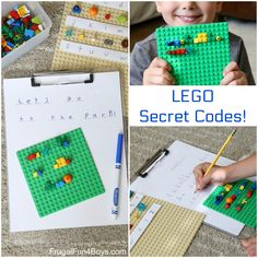 Secret Codes! Write Coded Messages with LEGO Bricks – Frugal Fun For Boys and Girls
