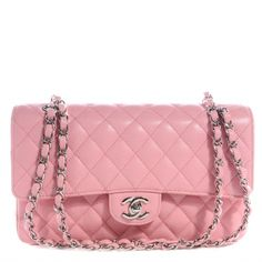 621d28d133be This is an authentic CHANEL Caviar Medium Double Flap in Pink. This medium  classic flap bag is beautifully crafted of luxurious pink caviar leather.