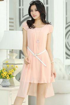 Sweet Ruffled Chiffon Mini Dress