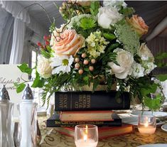 Bookish Centerpieces