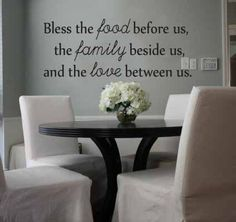 Vinyl Wall Quote - Vinyl Lettering - Removable Wall Decal - Food & Family (32149). $20.95, via Etsy.