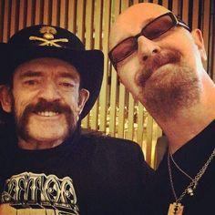 Lemmy Kilmister and Rob Halford.....................