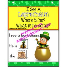 Autism - Build A Sentence with Pictures Interactive - LEPRECHAUN  Where is the lucky leprechaun? Forming sentences for our young learners or those with autism, can be challenging. Using real-life pictures for easy recognition of items associated with the St. Patrick's Day holiday, students love learning to read and form sentences. - See more at: http://autismeducators.com/autism--build-a-sentence-with-pictures-interactive--leprechaun#sthash.3Ciz1rg6.dpuf