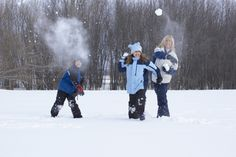 Snowball fights are always a family's favorite