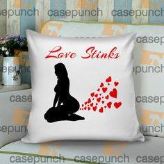 Sr4-love Stinks Funny Valentine's Day Cushion Pillow Case