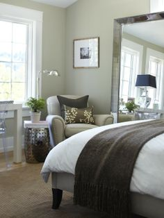 love this space...it's super cozy for possibly a guest bedroom