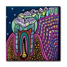 50 off  Tooth Dental Anatomy Art Tile Ceramic by HeatherGallerArt, $11.00