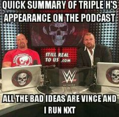 Quick summary of the Stone Cold podcast with Triple H Triple H, Summary, Cool Pictures, Give It To Me, Politics, Baseball Cards, Memes, Wwe, Cold