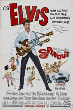 Spin Out Elvis Presley Vintage Movie Poster