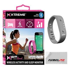 cool Xfit Wireless Bluetooth Activity / Fitness Tracker With Sleep Monitor - Includes 1 Colored Band in Total Works for Iphone 6, 6 Plus, 5s, 5c, 5, 4s, Samsung Galaxy S5, S4, S3, Note 2, Tab 4, Ipad 3, Ipad Air, Mini, Ipad, Ipad Retina, Ipad Touch Gen 5 or newer - Gray  FIT Band keeps track of all your movements. When you're ready to take the next steps toward better health, FIT Band has additional features to keep yo…