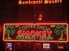 """Coffee shop"" in Amsterdam, Netherlands."