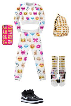 """""""emoji part 1"""" by attitudeisnasty ❤ liked on Polyvore featuring moda y NIKE"""