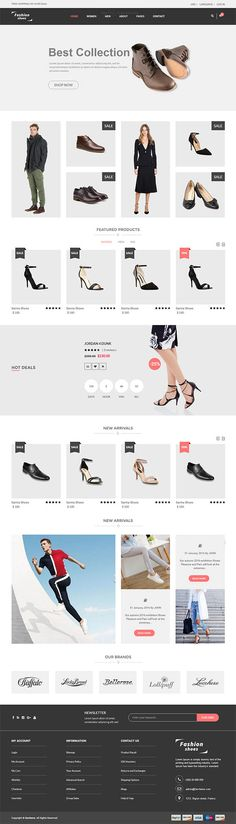 Fashion Shoes – eCommerce Shoe Template - Love a good success story? Learn how I went from zero to 1 million in sales in 5 months with an e-commerce stor (Wordpress Ecommerce) Html Templates, Wordpress Template, Shoe Template, Ecommerce Web Design, Google Web Font, Web Design Tips, Web Inspiration, Fashion Shoes, Success Story