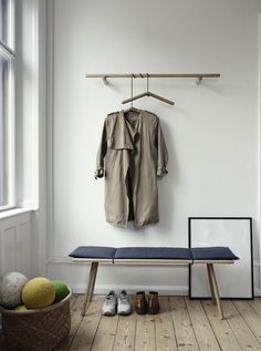 Too pretty to hide behind closed doors: a new line of oak storage furniture from Danish company Skagerak (plus the prettiest clothes hangers we've seen).