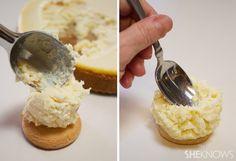 Cheesecake mashed potato bites with caramel gravy – SheKnows Turkey Jokes, Chocolate Pepper, Fool Recipe, Potato Bites, Snack Recipes, Snacks, Cheesecake Bites, Gravy, Mashed Potatoes