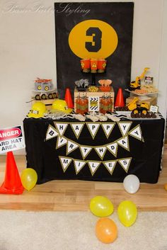 Bash Party Styling *'s  Birthday / Construction, construction party - Photo Gallery at Catch My Party.
