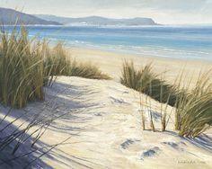 classic art print Afternoon Dunes by Caroline Atkinson - Best Painting Acrylic 2019 Art Plage, Ocean Mural, Beautiful Beach Pictures, Poster Mural, Ocean Sounds, Beach Scenes, Seascape Paintings, Photo Wallpaper, Beach Art