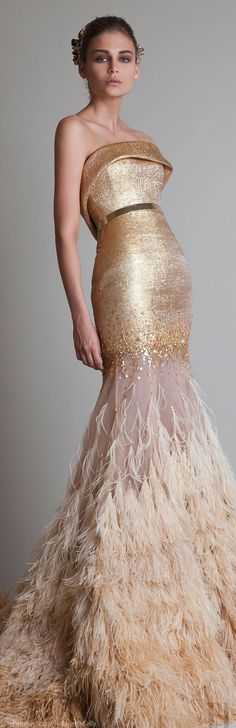 Krikor Jabotian Bridal Collection F/W 2013 - 2014 is simply amazing! If you are a bride that wants to make a statement whilst walking down the aisle in a couture gown. More couture bridal loveliness after the jump! Couture Mode, Style Couture, Couture Fashion, Runway Fashion, Beautiful Gowns, Beautiful Outfits, Gorgeous Dress, Traje Black Tie, Mode Glamour