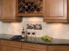 NDA Kitchens - Backsplash w/ wine mural