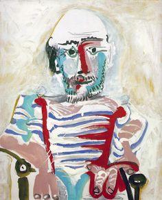 Pablo Picasso, Self Portrait (Hombre sentado) 1965