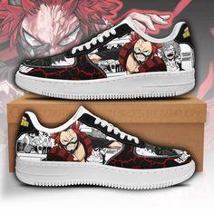 Eijirou Kirishima Air Sneakers Custom My Hero Academia Anime Shoes Fan Gift PT05-GearAnime Anime Inspired Outfits, Anime Outfits, My Hero Academia Merchandise, Nike Shoes Air Force, Air Jordan Shoes, Fresh Shoes, Custom Shoes, Look Cool, Sneakers Fashion
