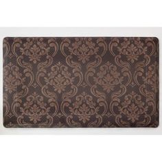 Chef Gear Chain Damask Anti-Fatigue Gelness 24 x 36 in. Kitchen Mat - Chocolate/Off-white (Brown/Beige) - x (Synthetic, Print)