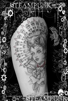 gothic neo traditional dotwork tattoo