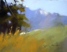 """Top of Porters Road"" - Original Fine Art for Sale - © Tony Allain Pastel Landscape, Abstract Landscape, Landscape Paintings, Pastel Art, Pastel Paintings, Oil Paintings, Draw On Photos, Plein Air, Art Oil"