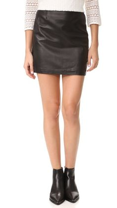 Black Mackage Alva Leather Skirt
