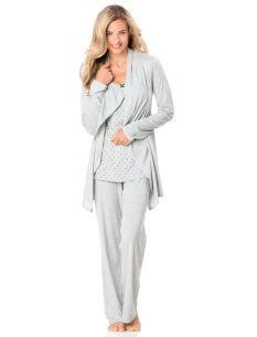 Great for hospital!!!  Motherhood Maternity Babydoll Nursing 3 Piece Set on www.destinationmaternity.com