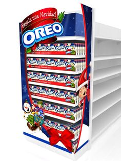 Beautiful end cap featuring for Oreo products!