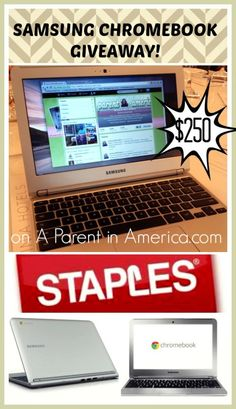 GIVEAWAY: Samsung Chromebook Laptop from Staples {review}