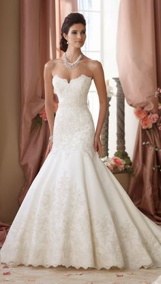 Classically Chic ~ David Tutera for Mon Cheri Spring 2014 Bridal Collection | bellethemagazine.com