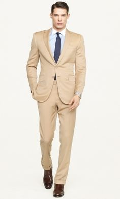 Jack Victor Tan Suit...with blue and or pin shirt and tie