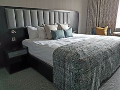 Interesting solution for the bed throw in a hotel Bed Throws, Cork, Ireland, Furniture, Home Decor, Bedspreads, Corks, Interior Design, Home Interior Design